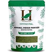 H&C 100% Natural Indigo (Indigofera Tinctoria) Powder - 227g / 0.5 LB / 08 oz - For Hair Care   Hair Color