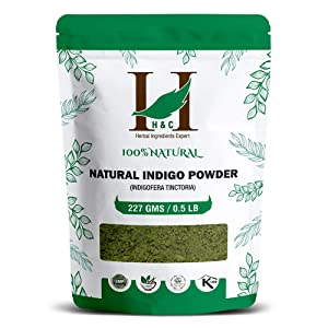 100% Natural Indigo Powder for Hair (227g / (1/2 lb) / 8 ounces) Indigofera tinctoria to color your hair brown to black