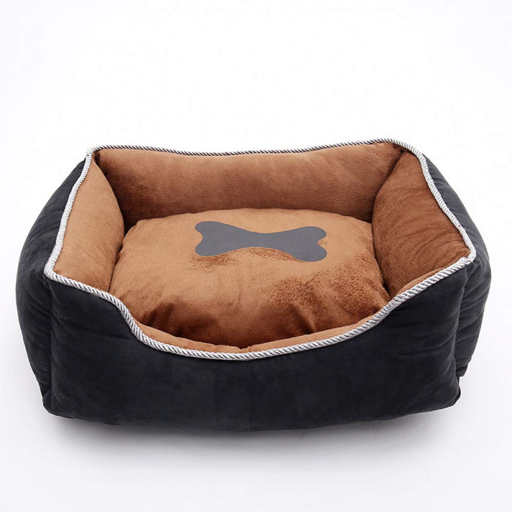 Brown L 65x55x20cm CZHCFF Dog Kennel House Pet Bed for Cats Small Dog Pug Pomeranian Detachable Cushion Pillow Soft Pet Sofas Animal Bed