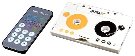 Technaxx DT-02 - Adaptador a casetes (reproductor de MP3 inalámbrico, auriculares,