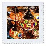 3dRose Danita Delimont - Lamps - UAE, Dubai, Traditional arabian Souvenir lamps - 18x18 inch quilt square (qs_277099_7)