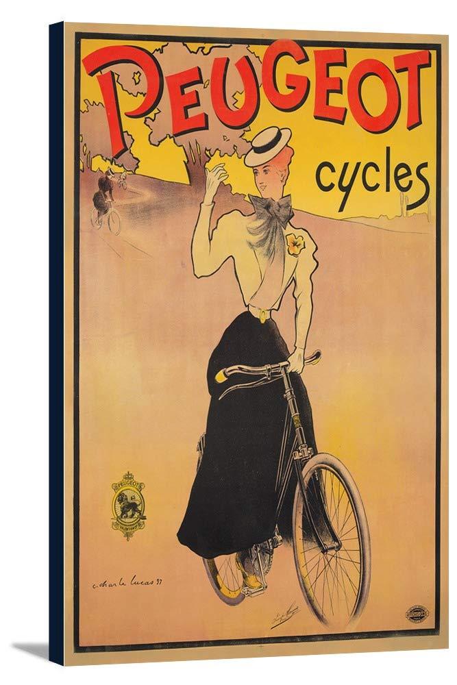 Peugeotサイクルヴィンテージポスター(アーティストLucas )フランスC。1897 12 x 18 Gallery Canvas LANT-3P-SC-73772-12x18 12 x 18 Gallery Canvas  B01DZ20GOY