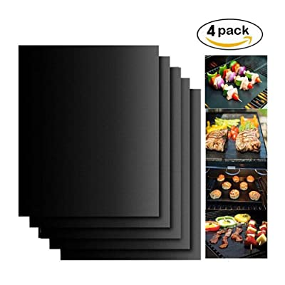 TCGYX BBQ Mat (Four Sets) for Barbecue Baking 4033cm Large Non-Stick Barbecue Mat High Temperature Reusable, Suitable for Gas, Charcoal, Electric Grill: Garden & Outdoor