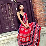 MDRW-Winter Scarf Retro National Style, Travel Photo, Warm Super Shawl, Spring And Winter Air Conditioning Room Scarf