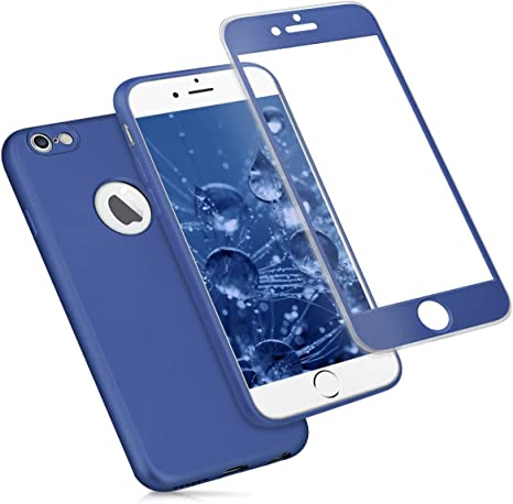 Cover Protettiva Integrale Fronte / Retro nera per Apple iPhone 6