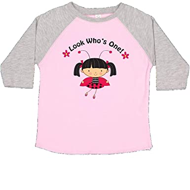 af1db49c inktastic - 1st Birthday Ladybug Toddler T-Shirt 2T Pink and Heather c4be