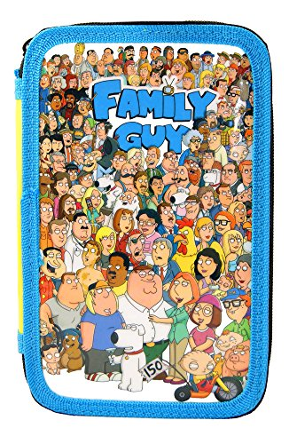 Family Guy Filled Pencil Case, Perfect For Children 2 Layer Pencil Case!!Official (Licensed Felt)