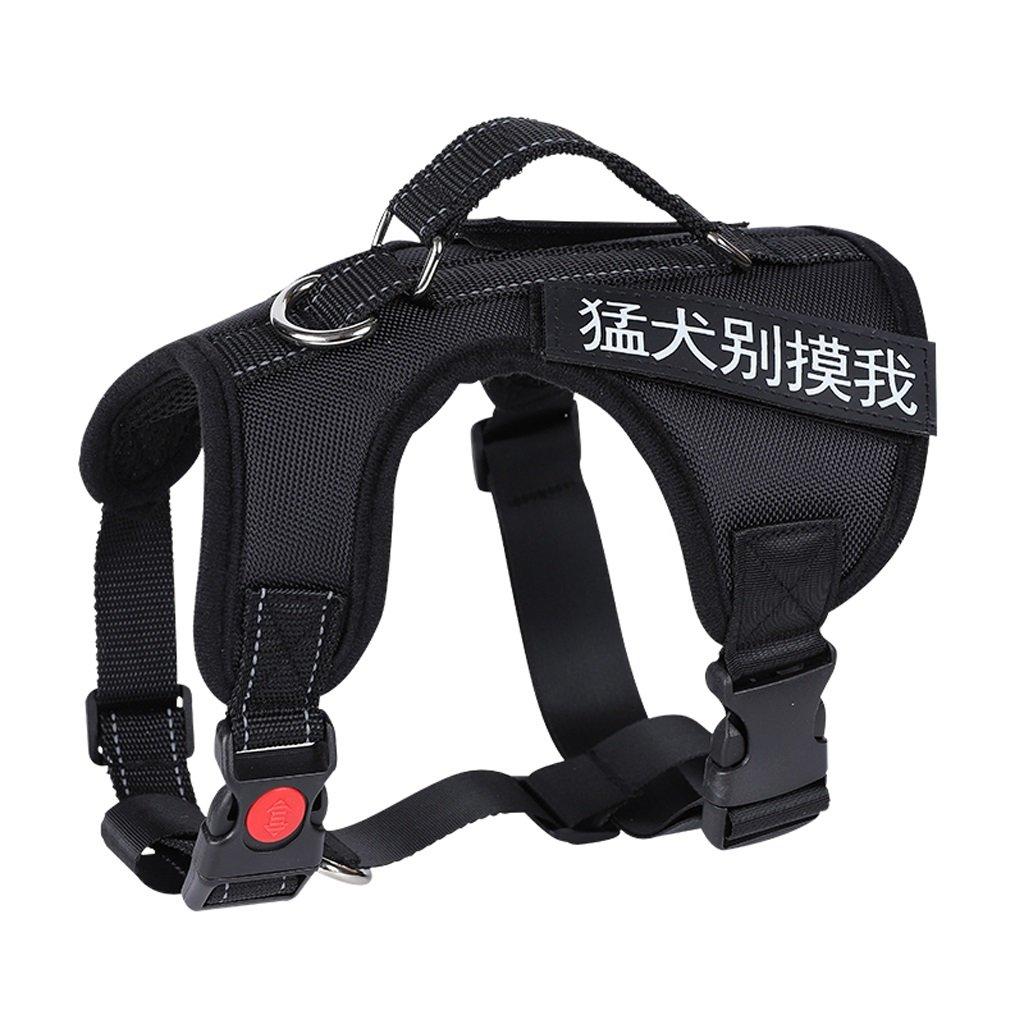 Black L Black L GWM Leashes Pet Harness, Harness, Medium, Large, Straps, Collar, Explosion-Proof, Pet Supplies (color   Black, Size   L)
