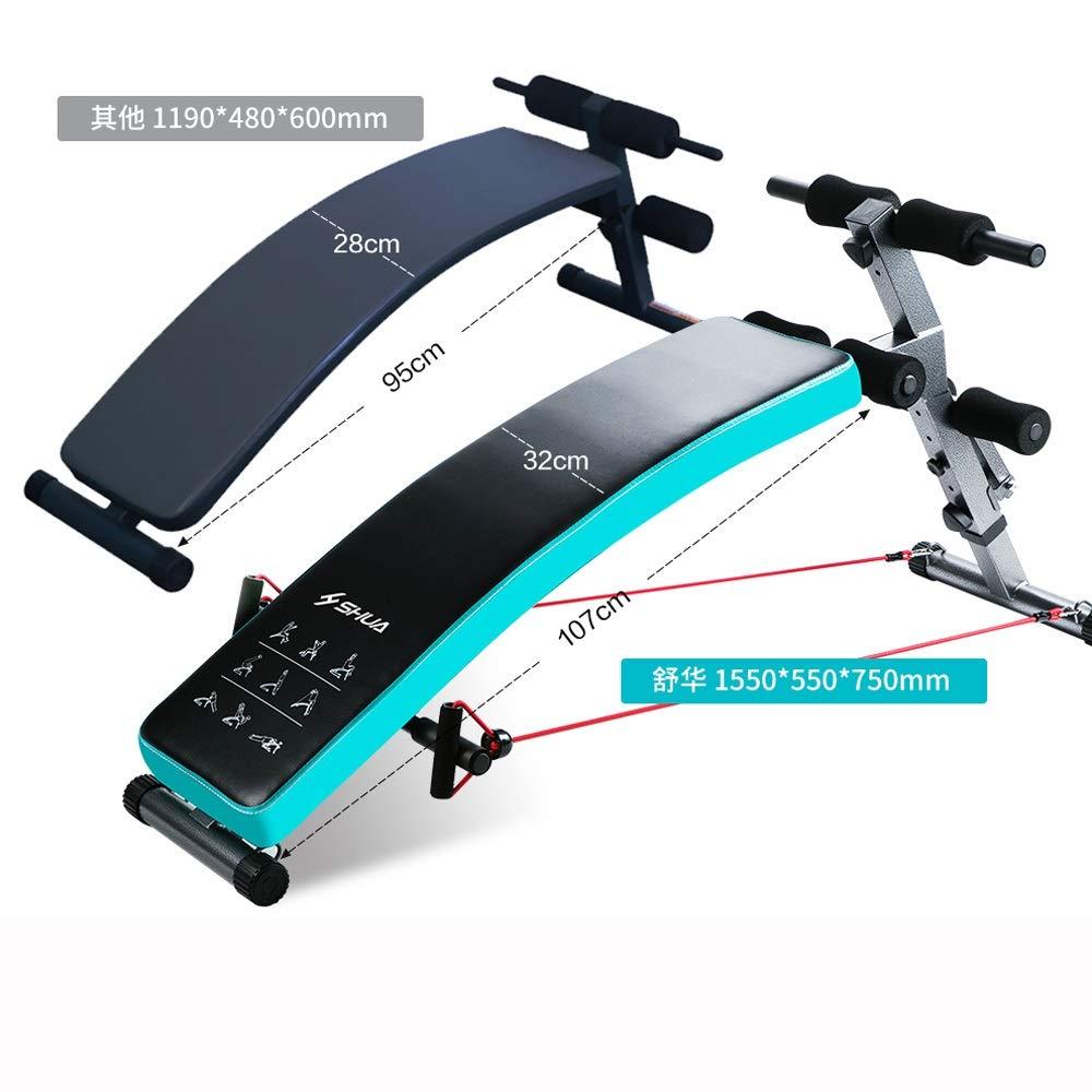 仰臥位ボード - 折りたたみ式腹部ボード腹筋ボード多機能フィットネス機器 黒