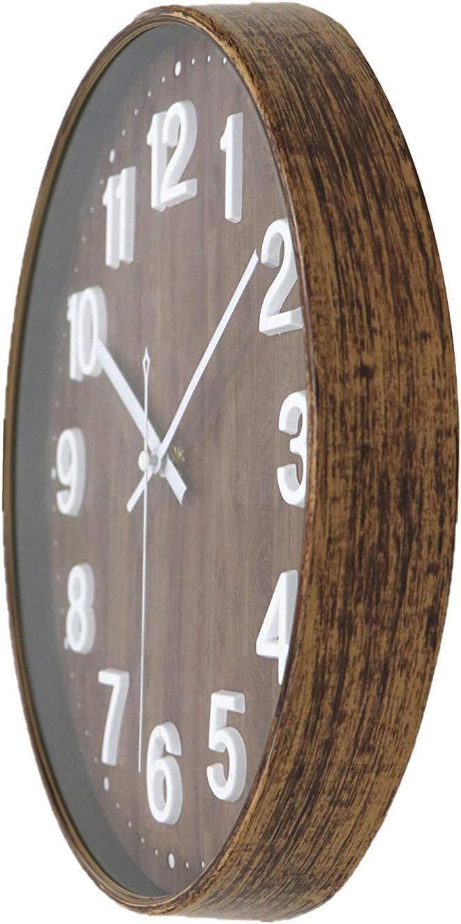 Foxtop 30 cm Horloge Murale Silencieuse /à Quartz pour la Salle de Classe de Cuisine de Bureau /à Domicile