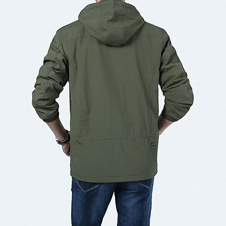 Mens Spring Jacket Casual Windbreaker veste homme Hooded Collar Breathable Men Outerwear chaqueta hombre Coat Male at Amazon Mens Clothing store: