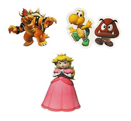 Amazon Com Super Mario Assorted Character Decorative Decal