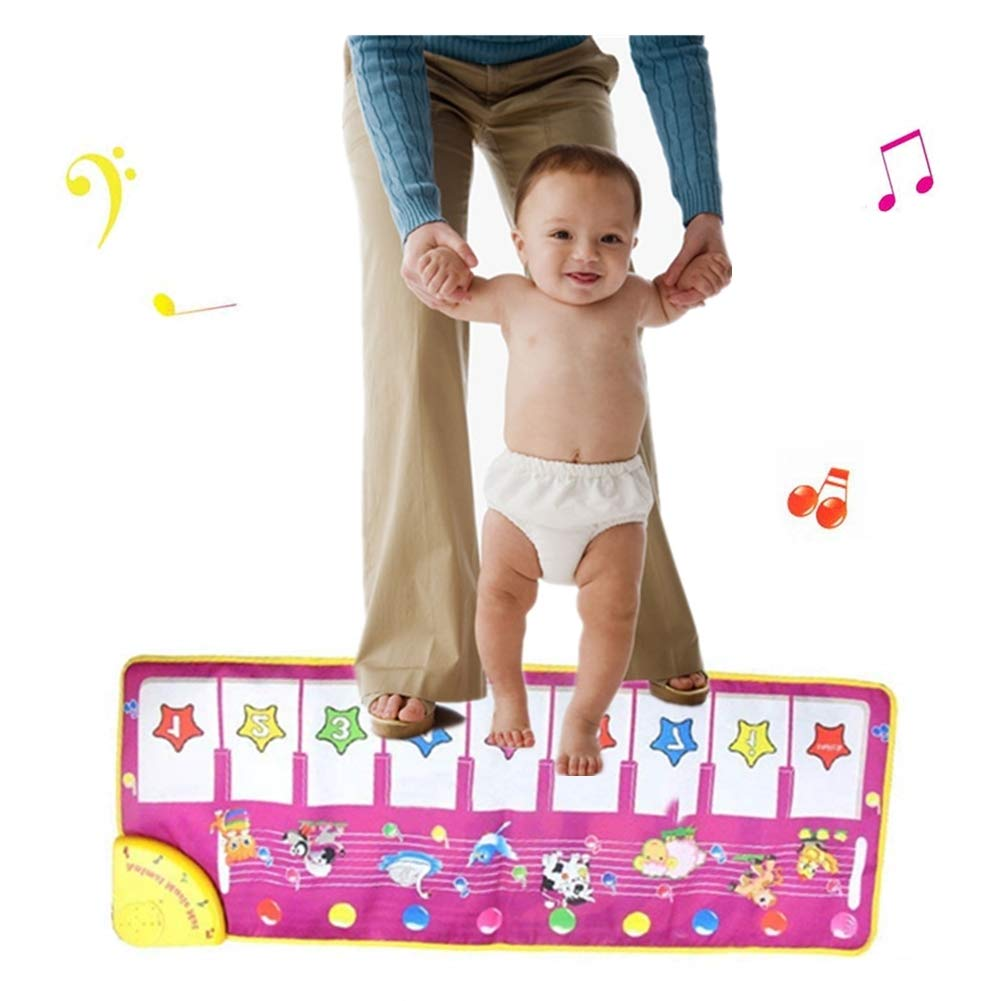 DQTYE Musical Piano Mat Baby Early Education Play Music Piano Blanket Singing Dancing Game Touch Keyboard Carpet Instrument Toy For Children Kids