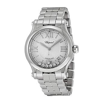 b11d8cc6d3ff5 Chopard Happy Sport Round Ladies Stainless Steel Diamond Automatic Watch  278559-3002