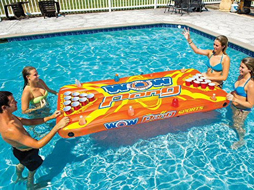 WOW World of Watersports, 15-2020, Wow Pong, Floating Inflatable Beer Game Table
