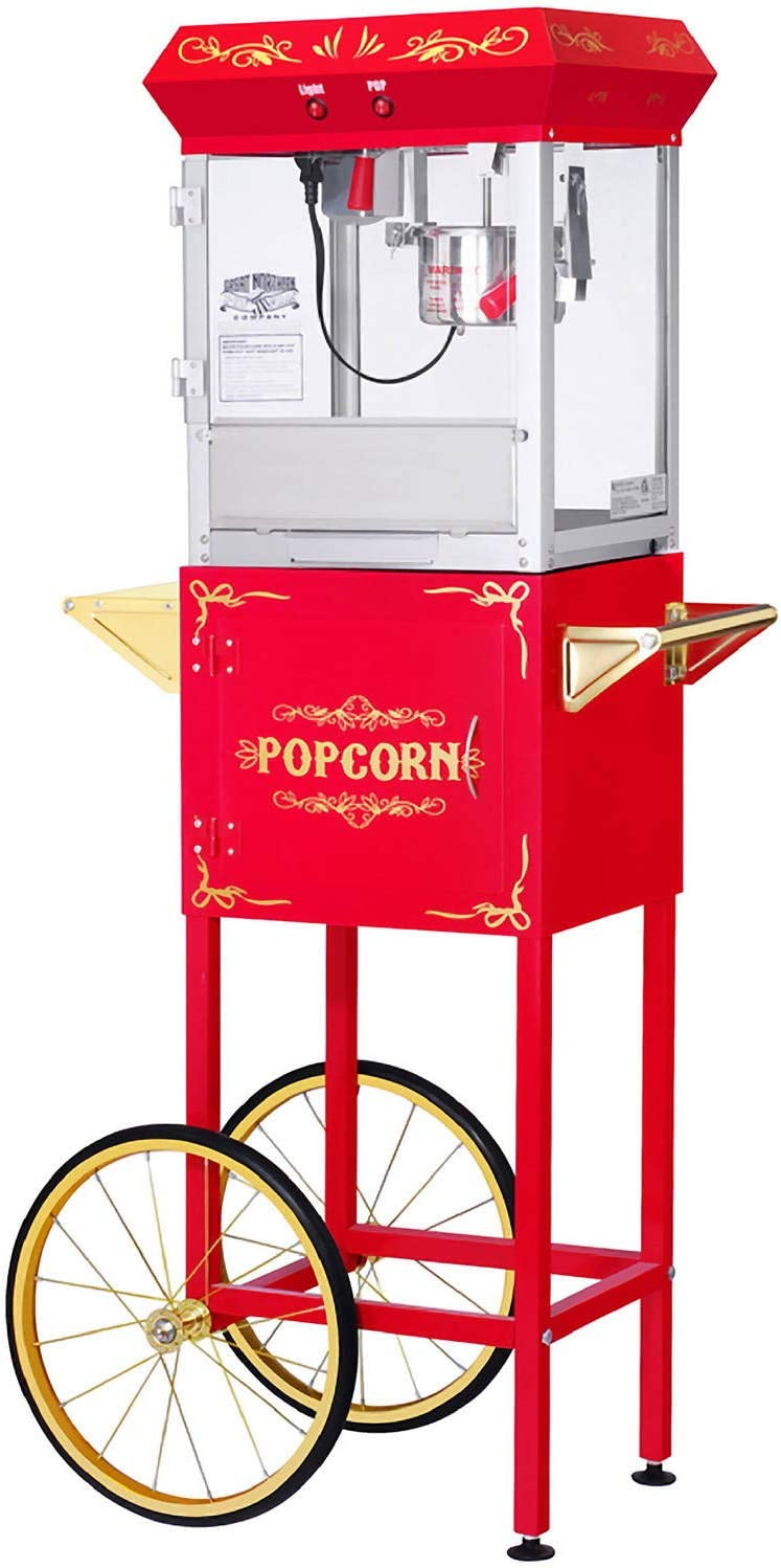 Great Northern Popcorn Red Car Northern Popcorn Company 6130 All Star GNP-400 Full Popper Machine with Cart, 4 oz