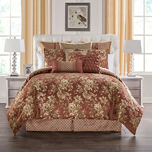 Marquis By Waterford Devlin, KING COMFORTER SET, Paprika (Comforter Waterford)