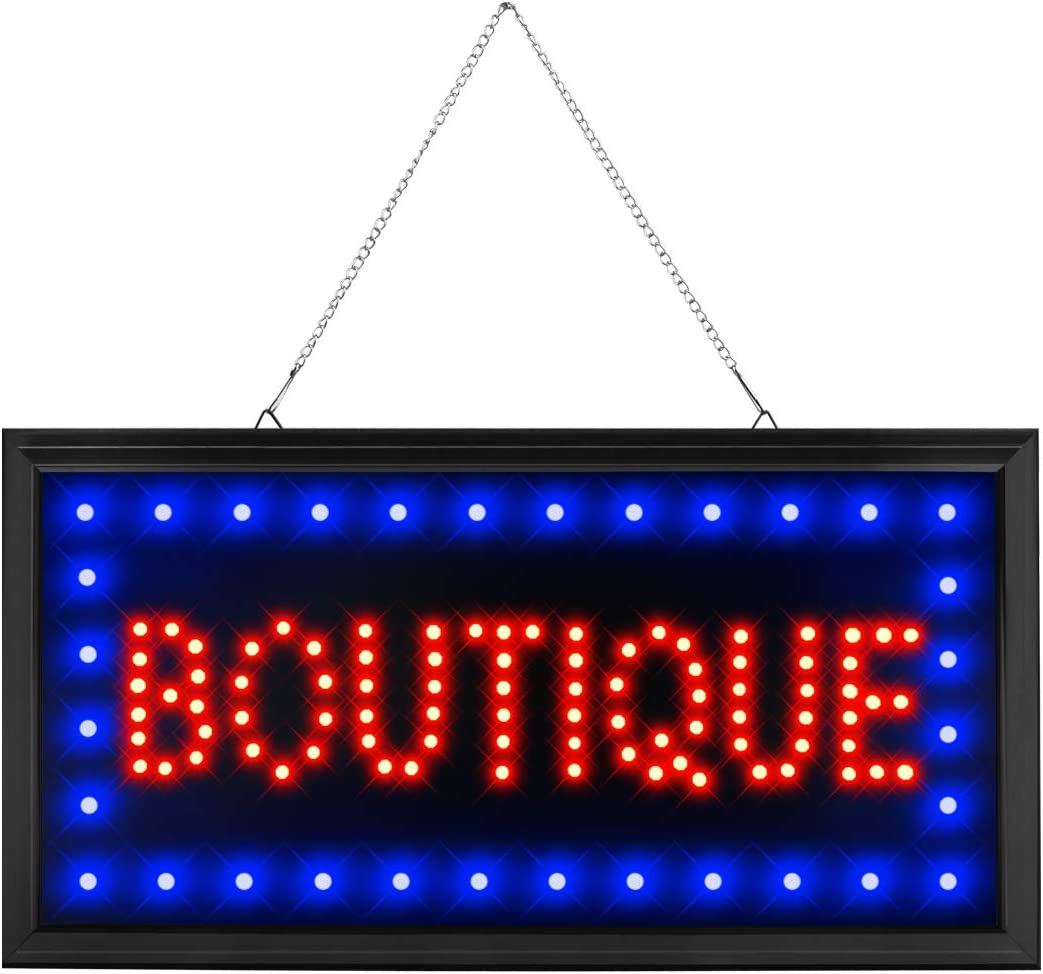 CHENXI Led Boutique Business Store Shop Store Sign of Led (48 X 25 cm, Boutique)