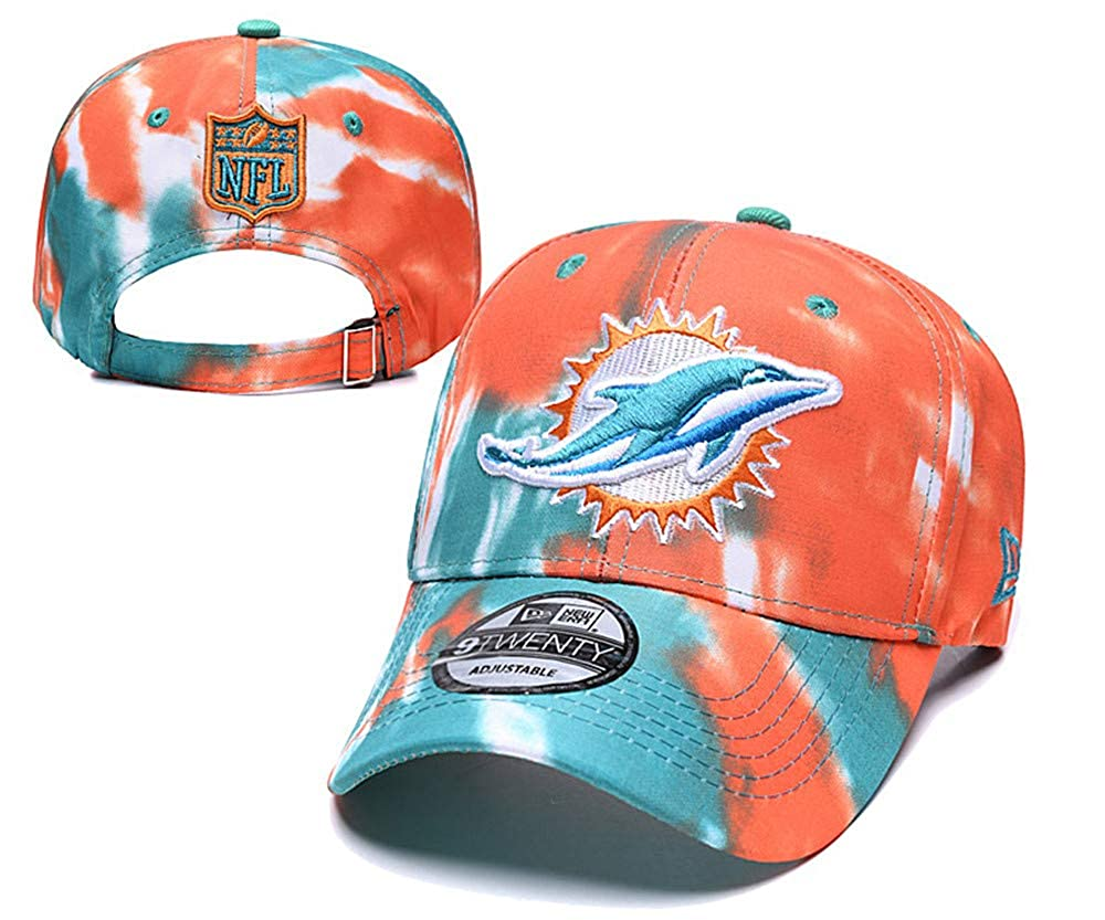 Adult Mens Miami Dolphins Snapback Cap Adjustable Hat