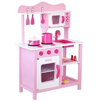 boppi- Cocina de madera para niños con 19 accesorios: Amazon.es ...