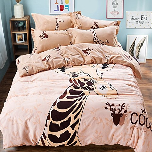 cutest Pink Giraffe Bedding Set
