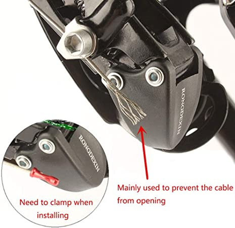 50PCS Brake Cable Caps Bike Shift Cable Gear Wire End Tips Crimp for MTB Bikes