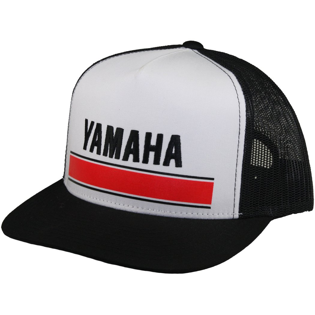 Amazon.com  Factory Effex - Factory Effex Hat - Vintage Yamaha Trucker -  White - One Size  Clothing 78996944f17