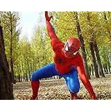 HALLE SHOP---スパイダーマン  全身タイツ ゼンタイ cosplay   弾力・伸縮性あり  コスチューム ハロウィン、クリスマス、イベント、お祭り仮装など (170-178cmサイズ)