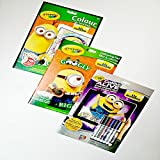 Crayola Color Alive Minions Bundled with Googly Eyes Minion Coloring Pad & Minion Color/Sticker Book (3 items)