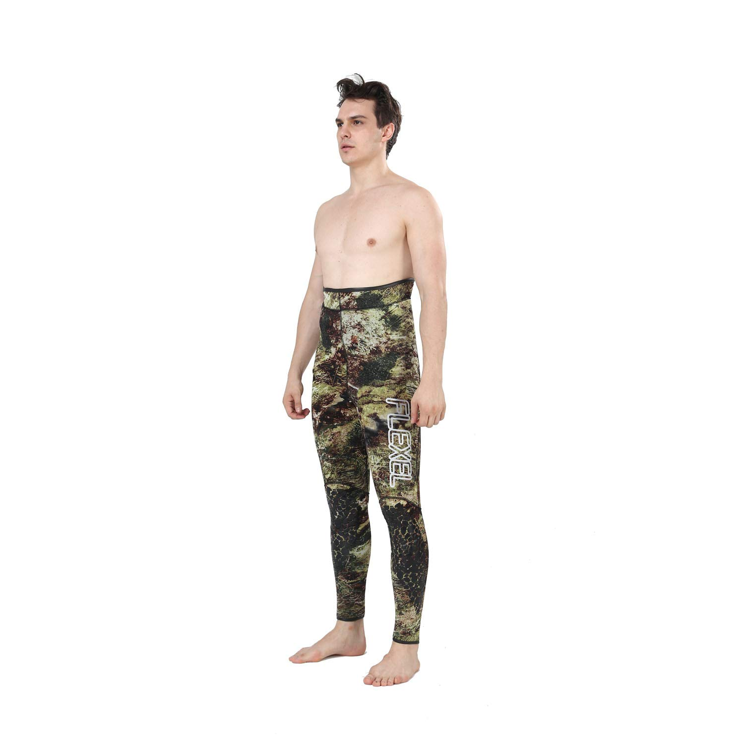 Flexel Camo Spearfishing Wetsuits Men Premium Camouflage Neoprene 2-Pieces Hoodie Freediving Fullsuit for Scuba Diving Snorkeling Swimming (7mm Grass camo, Large) by Flexel (Image #5)