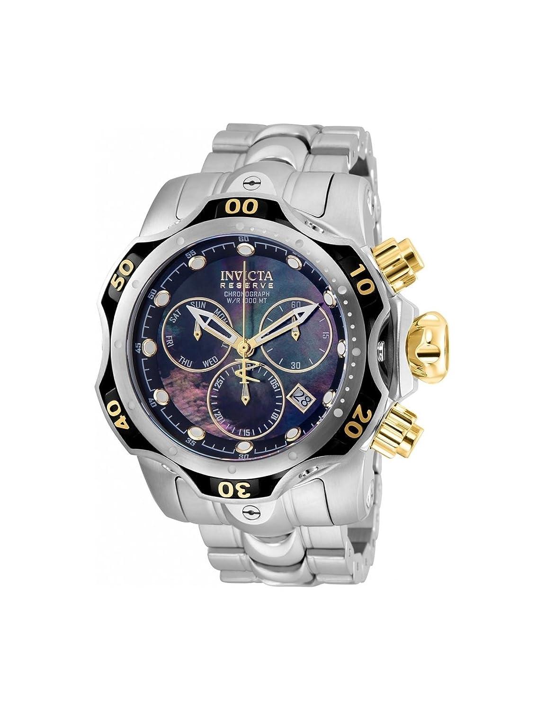 Invicta Reserve Venom Gen III Swissクオーツクロノグラフメンズ52 mmステンレススチールブレスレット腕時計(25977 ) B07CS9NBXQ