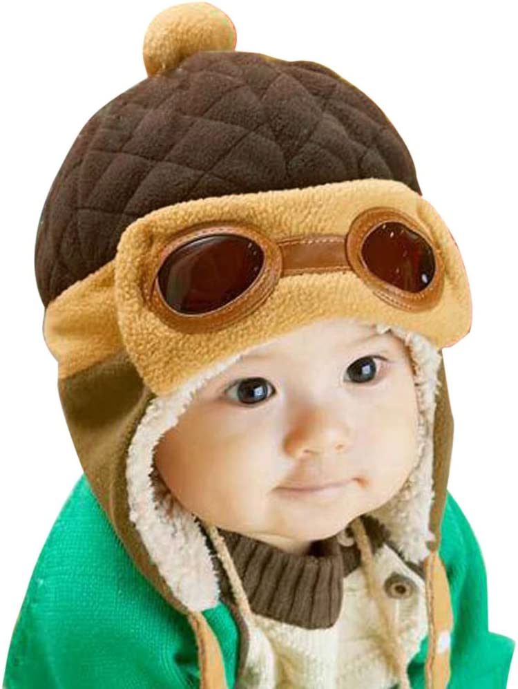 Blue Diamondo Toddlers Cool Baby Boy Girl Infant Winter Pilot Warm Cap Hat Beanie