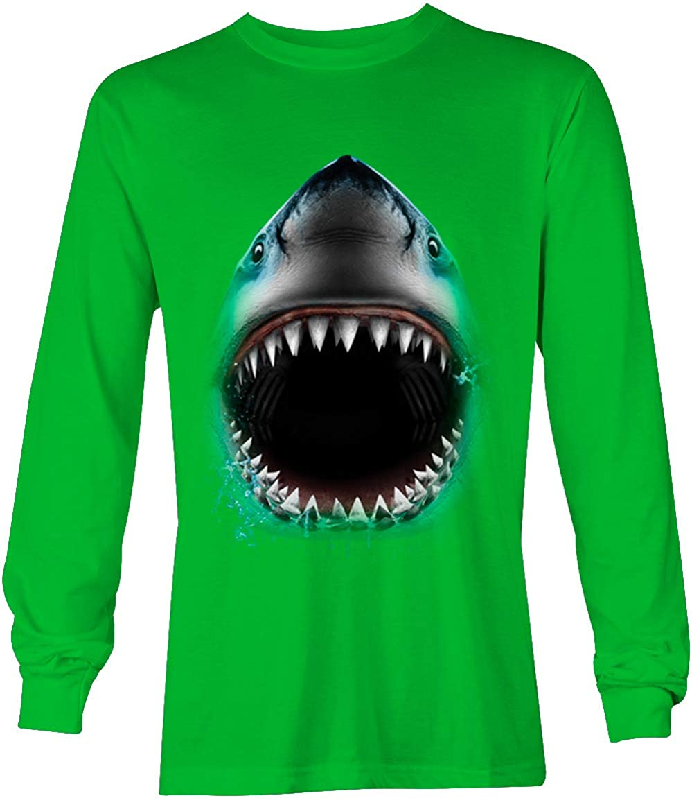 Shark Face - Great White Sea Creature Unisex Long Sleeve Shirt