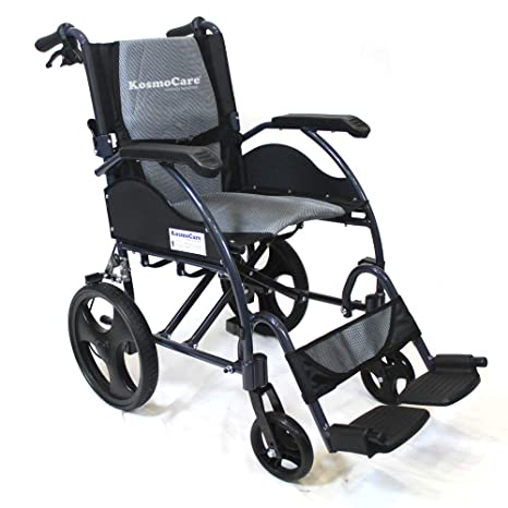 88048230005 Buy KosmoCare Stylex Ultra Lightweight Transporter Wheelchair with Seat  Belt Online at Low Prices in India - Amazon.in