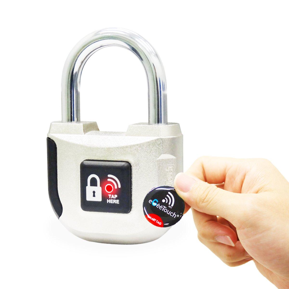 eGeeTouch Intelligentes NFC Vorhängeschloss - elektronisches Smart ...