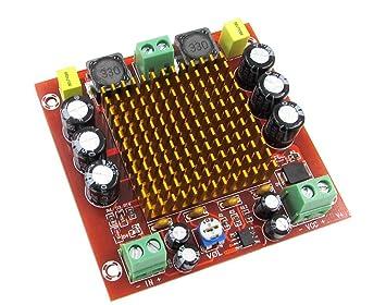 WINGONEER TPA3116D2 Tablero del amplificador digital del canal mono NE5532 Módulo de la AMP de 150W DC12-26V para el teatro casero del coche y el audio DIY: ...