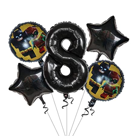 5pcs / lot Super Man Batman Foil Balloons Black 30inch ...