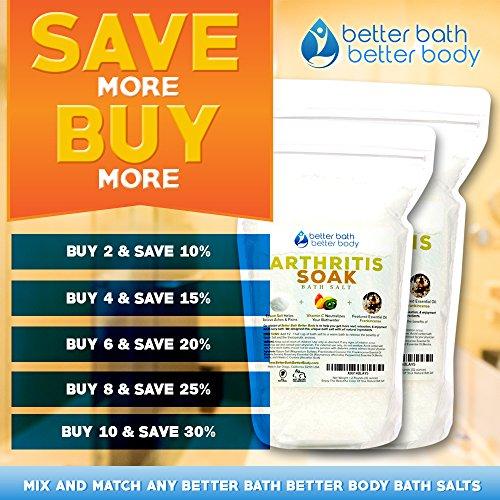 Arthritis Bath Salt 32oz (2-Lbs) - Epsom Salt Bath Soak With Frankincense Essential Oil & Vitamin C - Get Arthritis Relief With This Natural Bath Soak - All Natural No Perfumes No Dyes by Better Bath Better Body (Image #4)