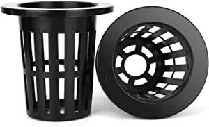 50 Pack 2 inch Net Pots Heavy Duty Net Cups Wide Lip Designed for Hydroponics and Aquaponics Slotted Mesh