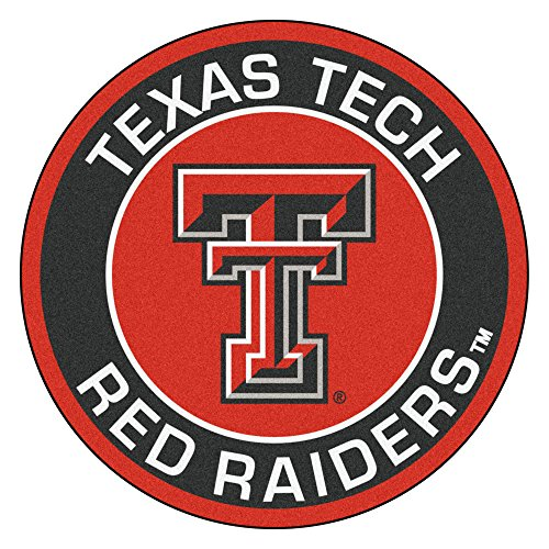 Texas Tech Rug - FANMATS 18644 Texas Tech University Roundel Mat