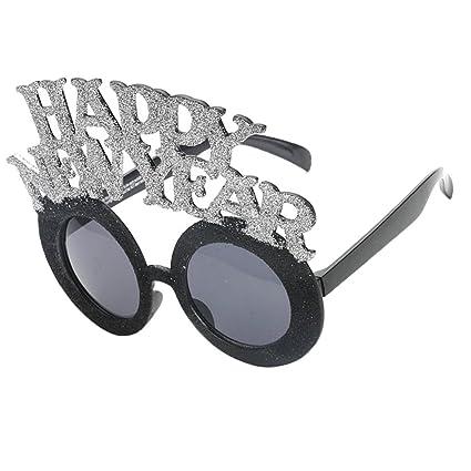 Amazon.com: Homyl Funny New Year Party Glasses Photobooth ...
