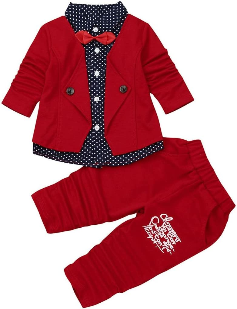 Baby Cothes Girl Boy Christmas Outfit Bovake Kid Baby Boy Gentry Clothes Set Formal Party Christening Wedding Tuxedo Bow Suit 80 Red Amazon Co Uk Pet Supplies