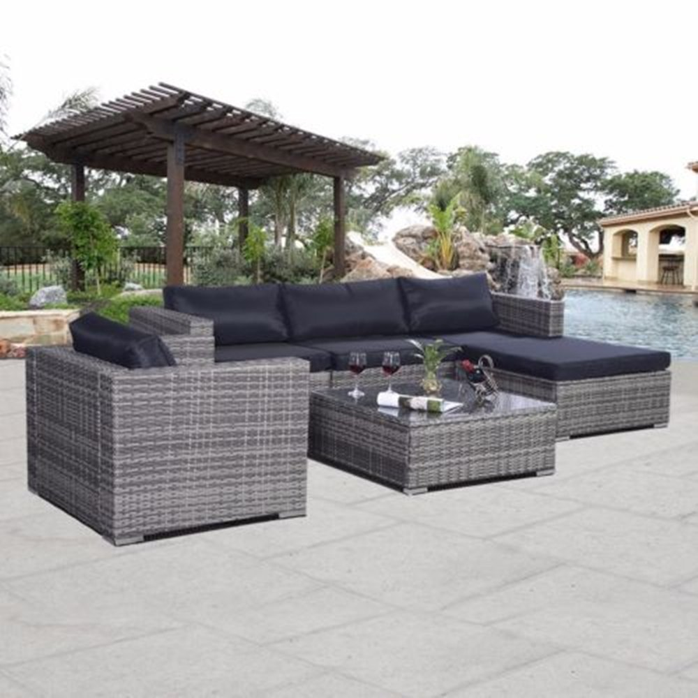 ssitg polyrattan gartenm bel rattan set sitzgruppe lounge. Black Bedroom Furniture Sets. Home Design Ideas