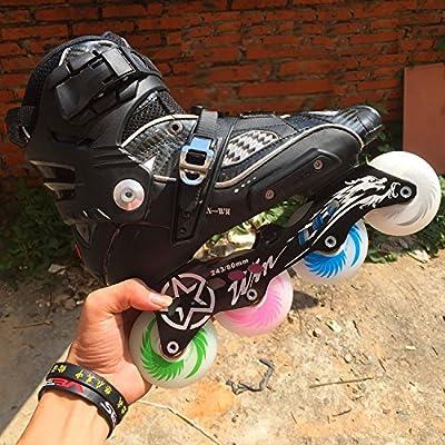 Wanna-store Outdoor Sport LED Flash Shining Inline Skates Wheel Roller Skate Wheels 72mm/76mm/80mm 4 Pcs/lot : Sports & Outdoors