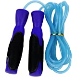 YOKIRIN Best Skipping Jump Rope for Endurance Training and Fat Burning - Handles Speed Cable -More Intense Workout than Exercise Weights More Calories than Exercise Treadmills or Step Machines, Blue