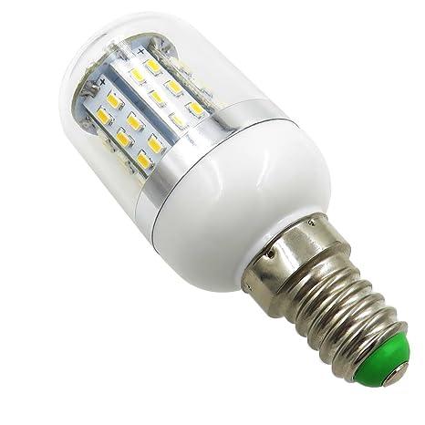 aiyowei E14 3 W Bombilla LED bombilla de maíz con tapa 48 – 3014 SMD AC