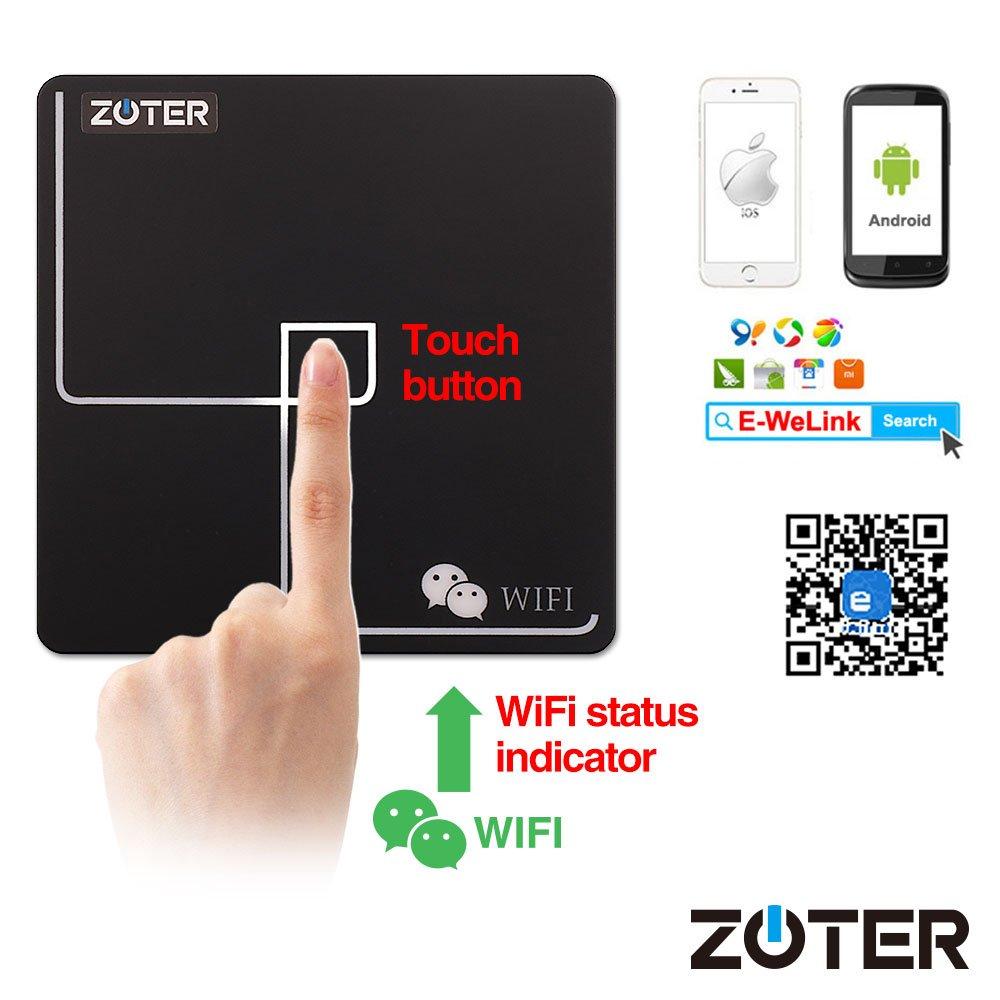 Módulo de control de acceso WiFi, ZOTER interruptor de salida Smartphone APP desbloqueo para cerradura de puerta eléctrica sistema de seguridad del hogar: ...