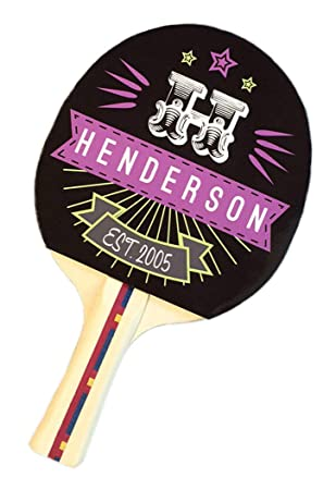 Infusion Custom Design Ping Pong Paddle, Premium 5 Ply Direct Imprint Personalization on Table Tennis Racket