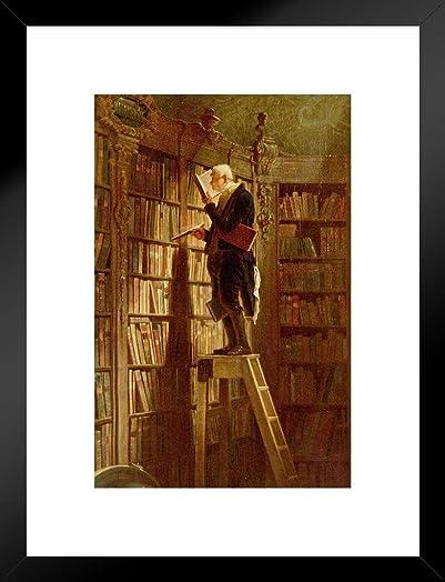 Poster Foundry Carl Spitzweg The Bookworm Matted Framed Wall Art Print 20×26