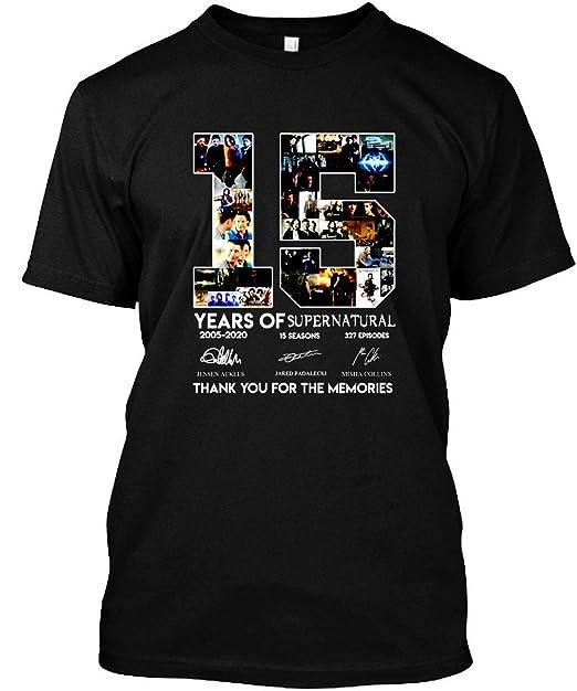 Amazon.com: 15 años de camiseta supernatural para hombre ...